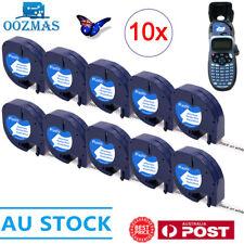 10PK Compatible Dymo LetraTag Refills 91331 Plastic Label Tape LT-100H 12mm x 4m