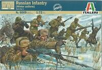 ITALERI 1:72 SOLDATINI WWII RUSSIAN INFANTRY 48 FIGURE NON COLORATE ART 6069