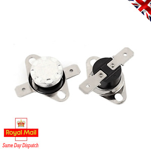 2 x KSD301 250V 10A Thermal Switch 85 C / 185 F Thermostat - Normally Closed