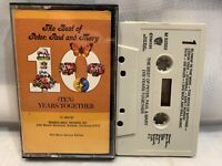 Peter Paul & Mary Best of Ten Years Together (Cassette) Record Club
