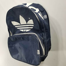 0db6f90cee VINTAGE 80s 90s Adidas Trefoil Backpack Navy White Graphic Spell Out zipper  day