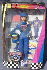 barbie NASCAR OFFICIAL 50th Anniversary 1998 Mattel 20442 boite écrasée et usée