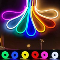 Neon Light 1M-5M DC 12V SMD Flexible LED Strip Waterproof Silicone Rope Bar Deco