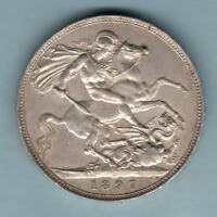 Great Britain.  1897-LXI Crown..  Much Lustre.. aEF/EF
