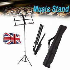 More details for sheet music book stand w/carrying bag portable folding metal stand adjustable uk
