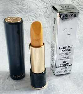 Lancome L'Absolute Rouge Hydrating Sheere Lip Color Lipstick Gold Golden 503