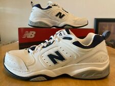 New Balance Mens Cross Trainers  White and Navy MX623WN 10 B