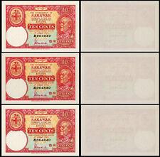 !COPY! 3 SARAWAK 10 CENTS 1940 BANKNOTES !NOT REAL!
