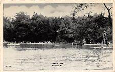 D68/ Weatherly Pennsylvania Pa Postcard c1940s Eurana Park Swimming Area Slide
