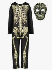 Boys Halloween Skeleton Costume Outfit with Mask Size 3-4  Years (NEW)