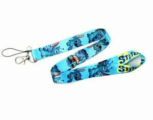Brand New FREE POSTAGE Lilo and Stitch Blue Cartoon cute Lanyard ID Pass holder