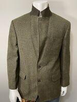 EDDIE BAUER Men's Plaid Jacket Sport Coat WOOL Blazer 42R (Mint)