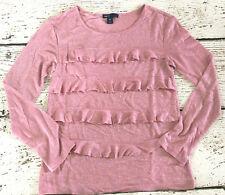 Gap Kids Pink Glitter Sparkle Long Sleeve Shirt Large 10 Vguc