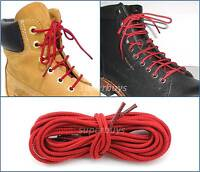 "Red 90cm Long Hiking Trekking Shoe Work Boot Laces Trek Hike 36"" To 3 Eyelets"
