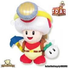 "GENUINE SANEI Super Mario Bros GO 7"" Standing Captain Toad Plush Doll Toy JAPAN"