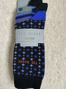 Ted Baker 'Hoisted' Mens Socks - 3 Pair Pack Size 7-11 - RRP £24