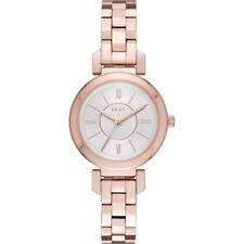 DKNY Ellington Silver Dial Ladies Rose Gold Tone Watch NY2592