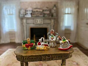 Vintage Miniature Dollhouse Collection Retro Christmas Tree Ornaments Classic