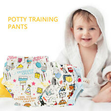 4Pc Toilet Potty Training Pants Breathable Baby Toddler Diaper Washable Reusable