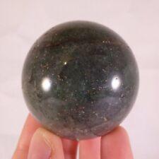 Madagascan Green Fuchsite & Pyrite Quartz Polished Sphere Ball - 48mm, 170g