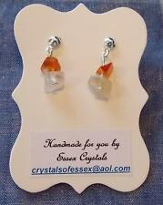 VIRGO ZODIAC BIRTHSTONE CARNELIAN SEMI-PRECIOUS GEMSTONE earrings