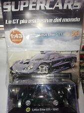LOTUS ELISE GT1 1997   SUPERCARS GT COLLECTION 1:43  #54  DIE CAST MOC