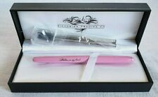 "Pink "" Written on my heart "" rollerball fountain pen w/ box Victorian Trading co"