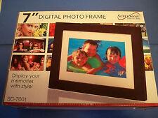 "Supersonic SC-7001 7"" Digital Photo Frame w USB & SD Input NIB"