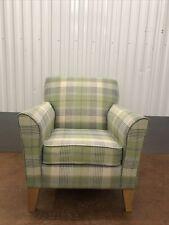Next Alfie amchair in green and teal tartan fabric