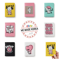 BT21 Character Music Passport Cover Case Wallet 7types Authentic K-POP Goods