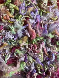 Masham / Teeswater Hand Dyed Locks And Fleece. 90 gram