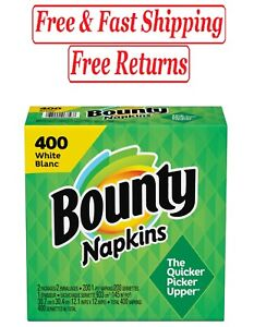 Bounty Everyday Paper Napkins, White, 400 Count Napkins