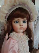 ANTIQUE REPRODUCTION BRU DOLL 24 INCHES TALL SWEET EXPRESSION VINTAGE DRESS