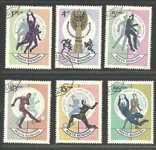 Romania 1966 World Cup Soccer Championship VF Precancel NH Stamps Sc# 1830-35