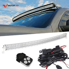 White 50in 288W Curved LED Work Light Bar KIT Combo Offroad Dodge PROMASTER CITY