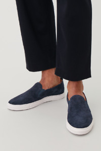 COS men's blue suede loafers shoes price tag $115 brand new in original boxes