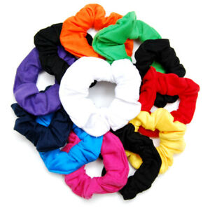 "Luxxii (12 Pack) 4"" Fancy Soft Cotton Colorful Scrunchies Ponytail Holder"