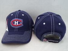 Montreal Canadiens Reebok NHL Blue W/ White Stitching Adjustable Hat Cap