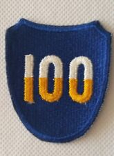 Patch US 100th INFANTRY DIVISION - Marseille Moselle Vosge - WW2 ORIGINAL