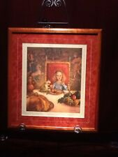 Scott Gustafson The Frog Prince LE Signed Framed Cherry Wood with Suede Mat