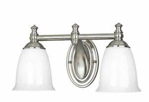 Progress Lighting Victorian 2 Light Bathroom Vanity Light - Brushed Nickel
