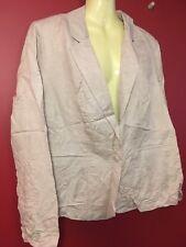 LANE BRYANT Women's Beige Linen Blend Jacket - Size 16 - NWT $59.95