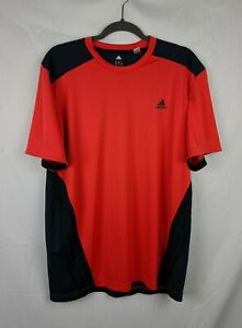 Adidas Climacool Men's Oranger Short Workout Shirt sz XL