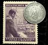 Rare Old WWII German War 1 Reichspfennig Coin & 60RP Stamp World War 2 Artifacts