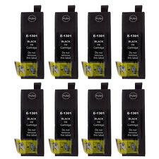 8 Black Cartridges for Epson Stylus SX525WD SX535WD SX620FW WF-7515 WF-7525