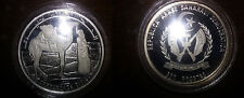1990 Saharawi  Large silver  Proof 500 P-Beduin/Camel in the Desert