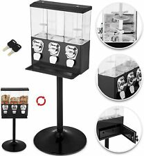 TRIPLE CHOICE Commercial Grade Sweet Vending Machine 20p Coin Operated - BLACK