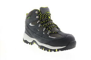 Khombu Murray MURRAY Mens Gray Suede Lace Up Hiking Boots