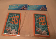 Disney Frozen Snowman Olaf Wild For Summer Luggage Tag Lot of 2 New