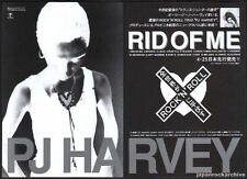 1993 PJ Harvey photo Rid Of Me 2pg JAPAN album promo press / print ad pj5r
